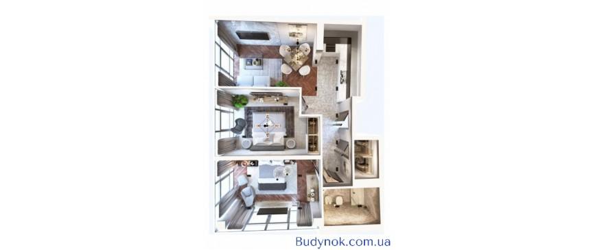 Продам двух комнатную квартиру с прямым видом на море