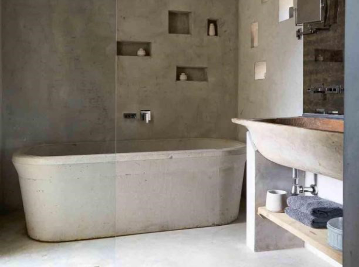 Бетонная ванна